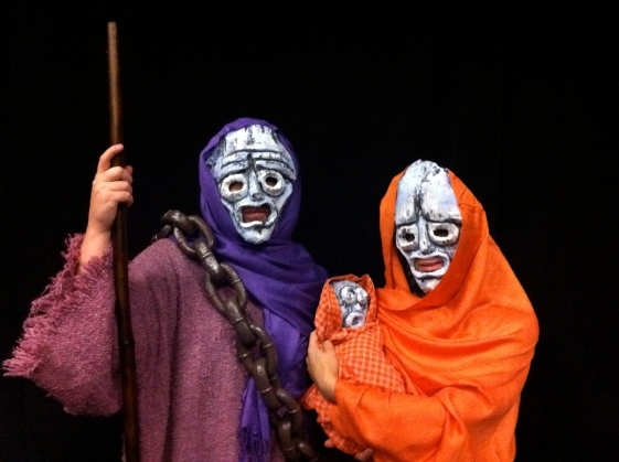 Mask construction and direction for THE TROJAN WOMEN